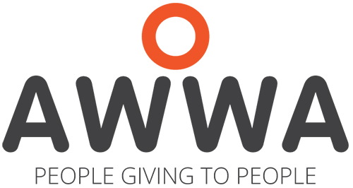 AWWA logo with tagline People Giving To People