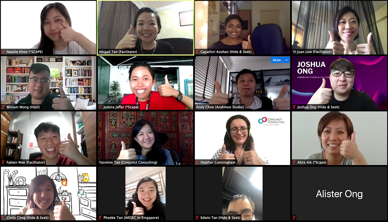 screenshoot of people who attend zoom session