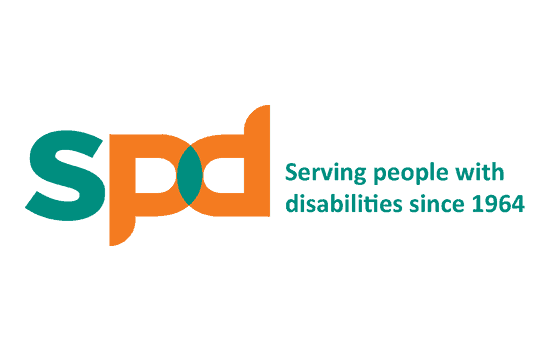 SPD logo with tagline Serving People with Disabilities since 1964