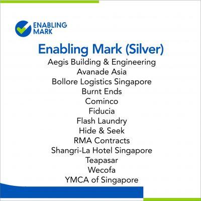 List of companies earning Enabling Mark (Silver). One of them is Hide & Seek.